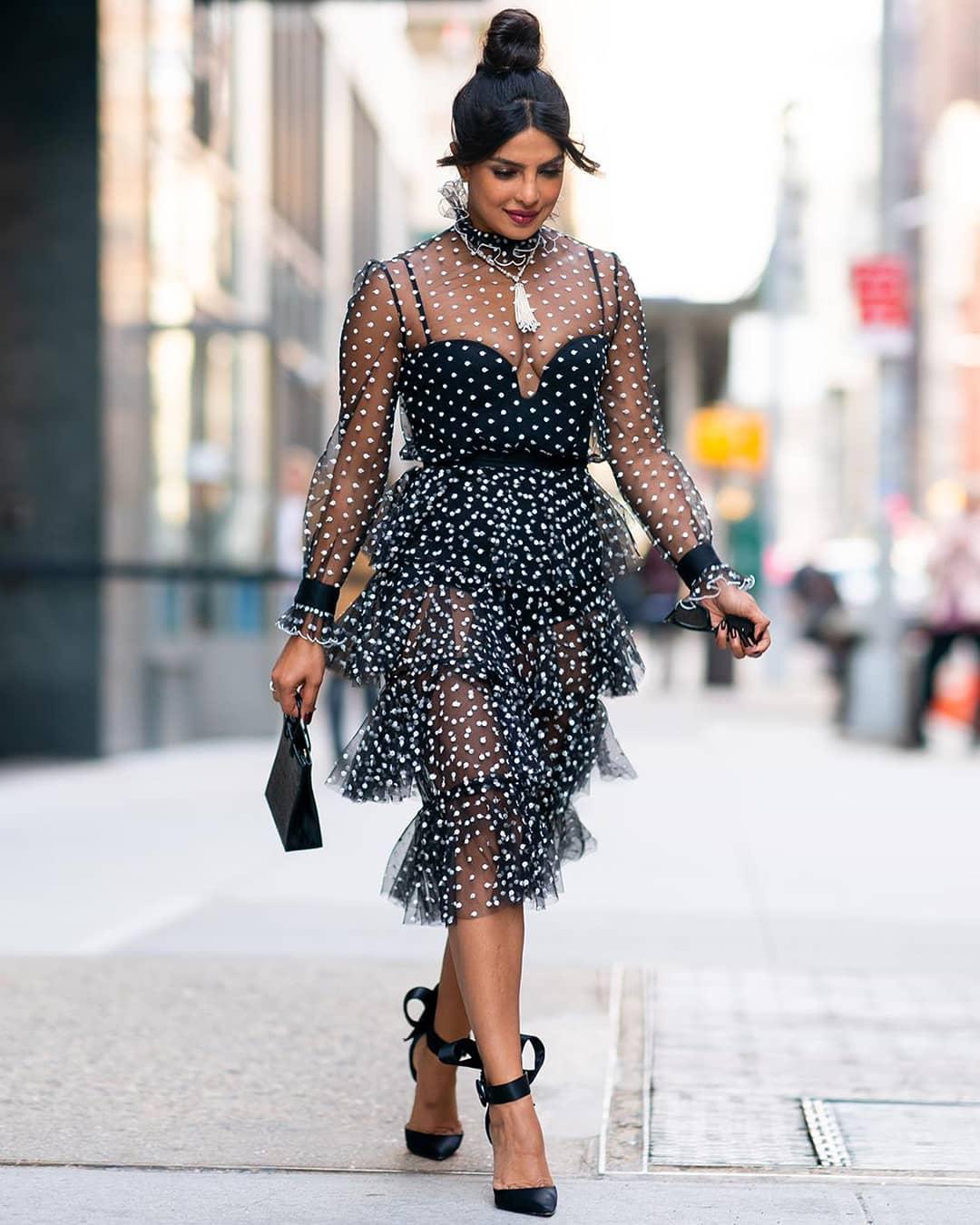 Priyanka Chopra in black dress photo
