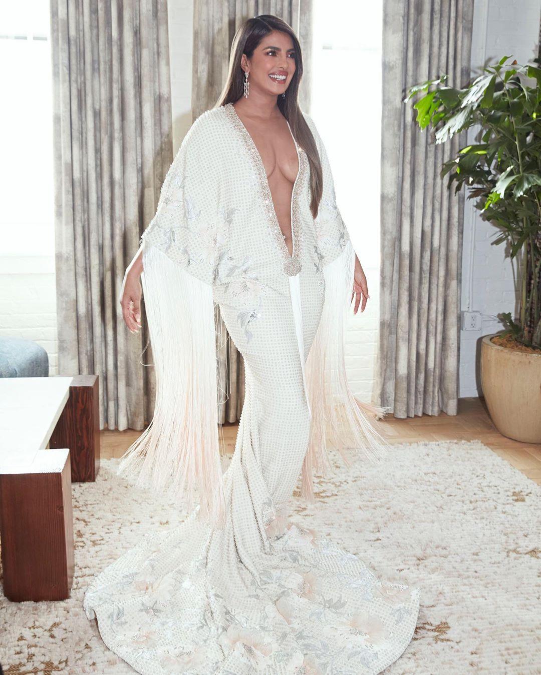 Priyanka Chopra new hot pic in white dress