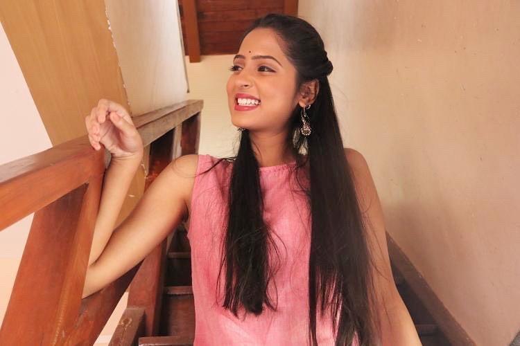 Vidula Chougule in pink dress