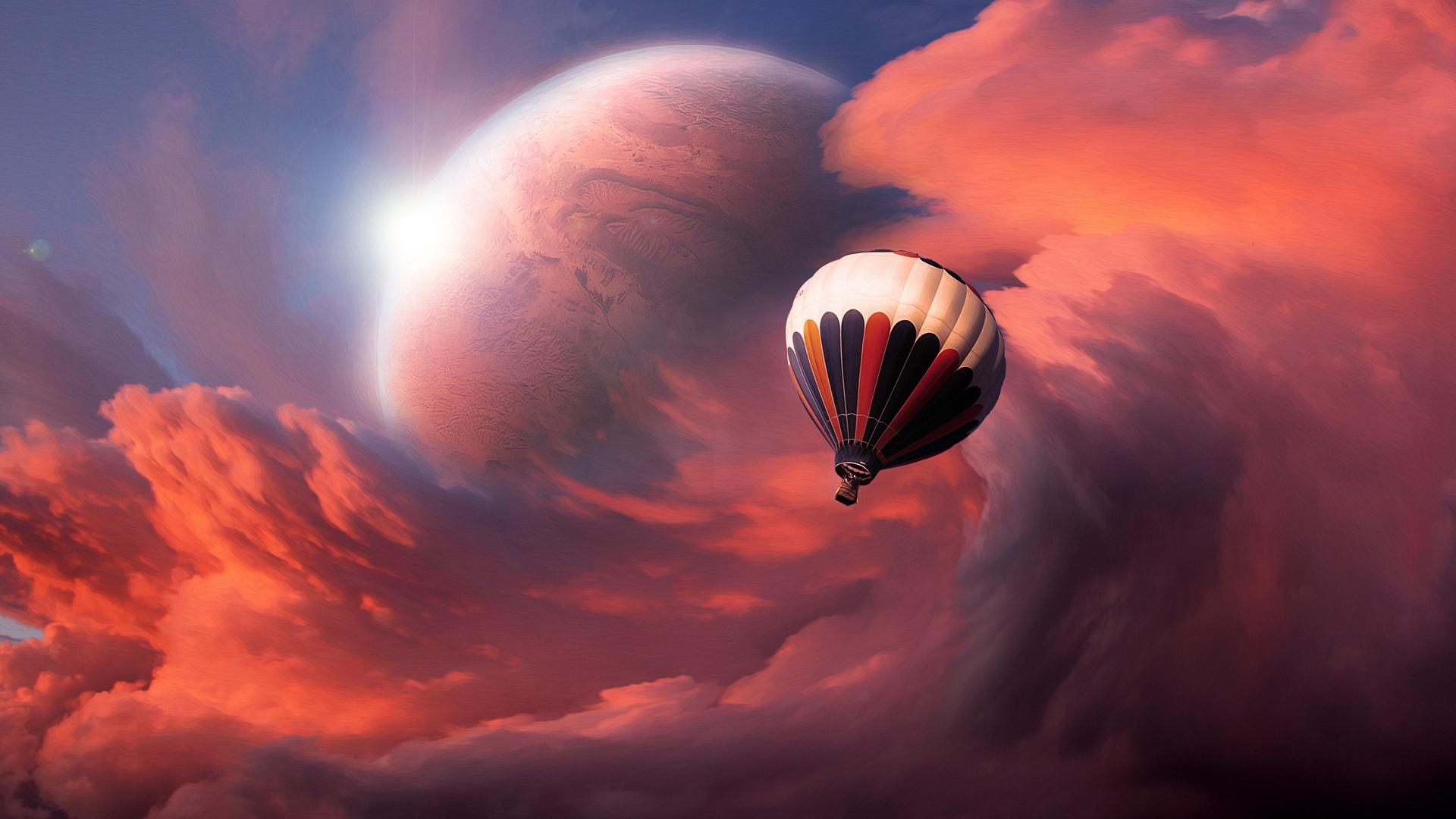 Flight balloon sky