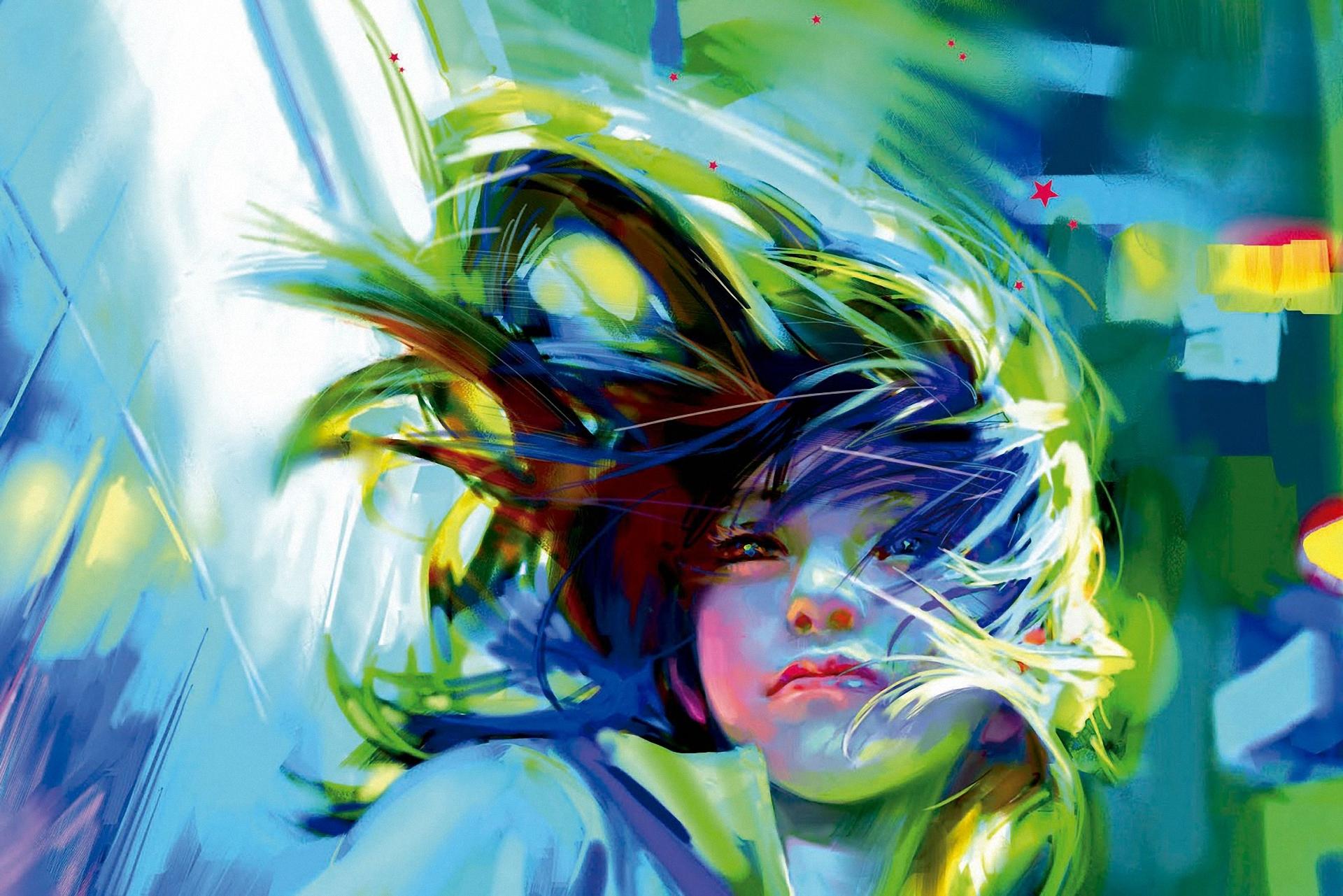 Zhang bin girl art wind