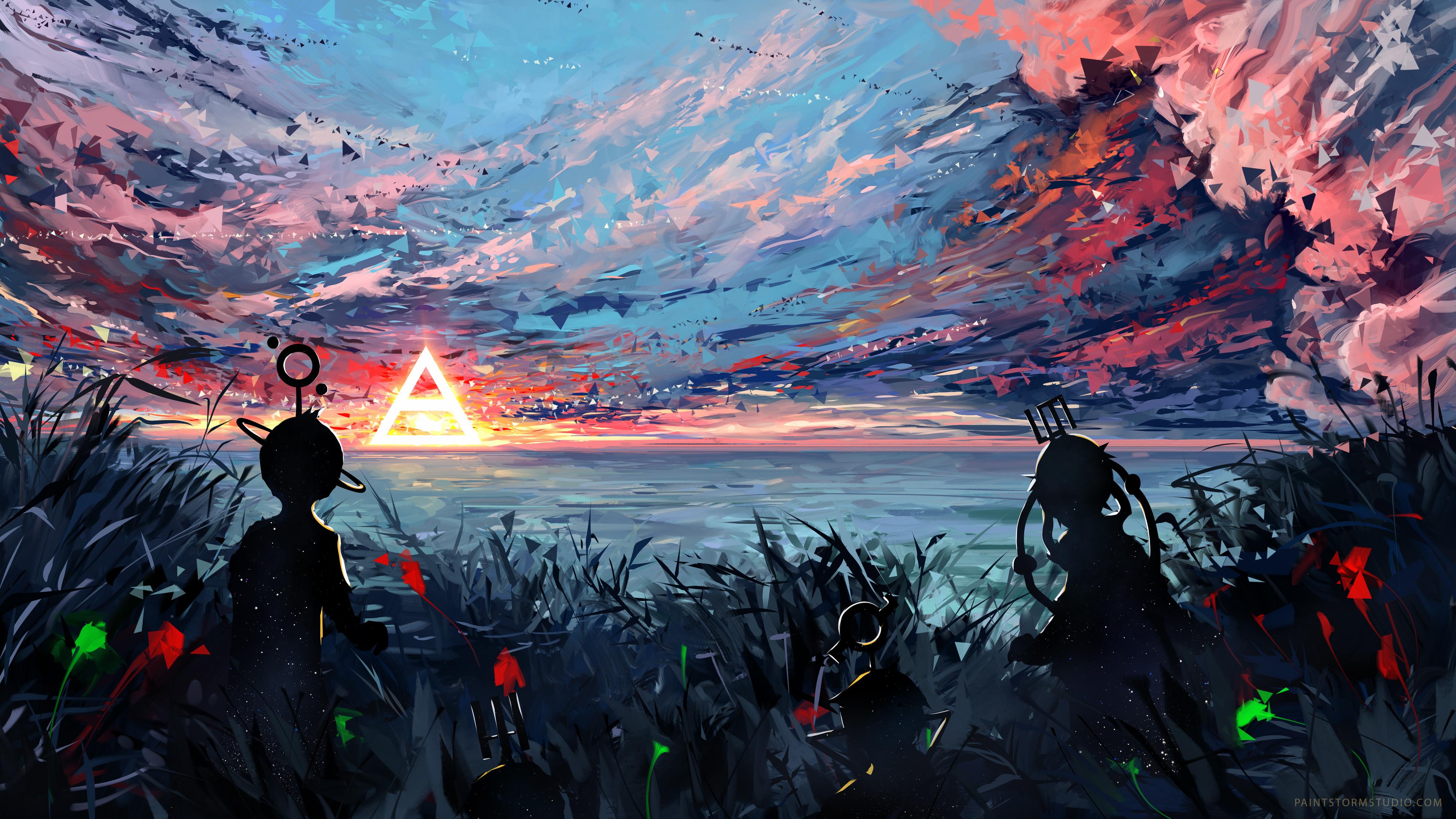Silhouette art sky