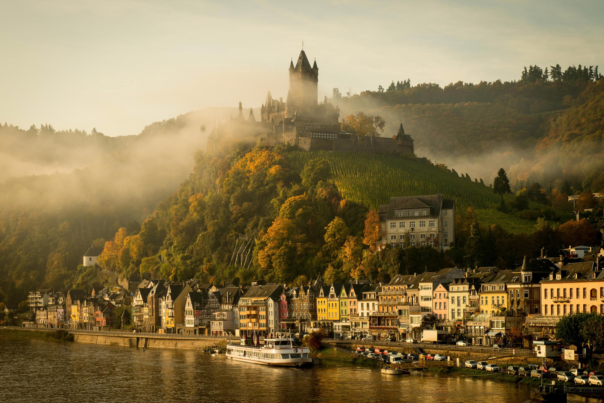 germany cochem mosel river castle