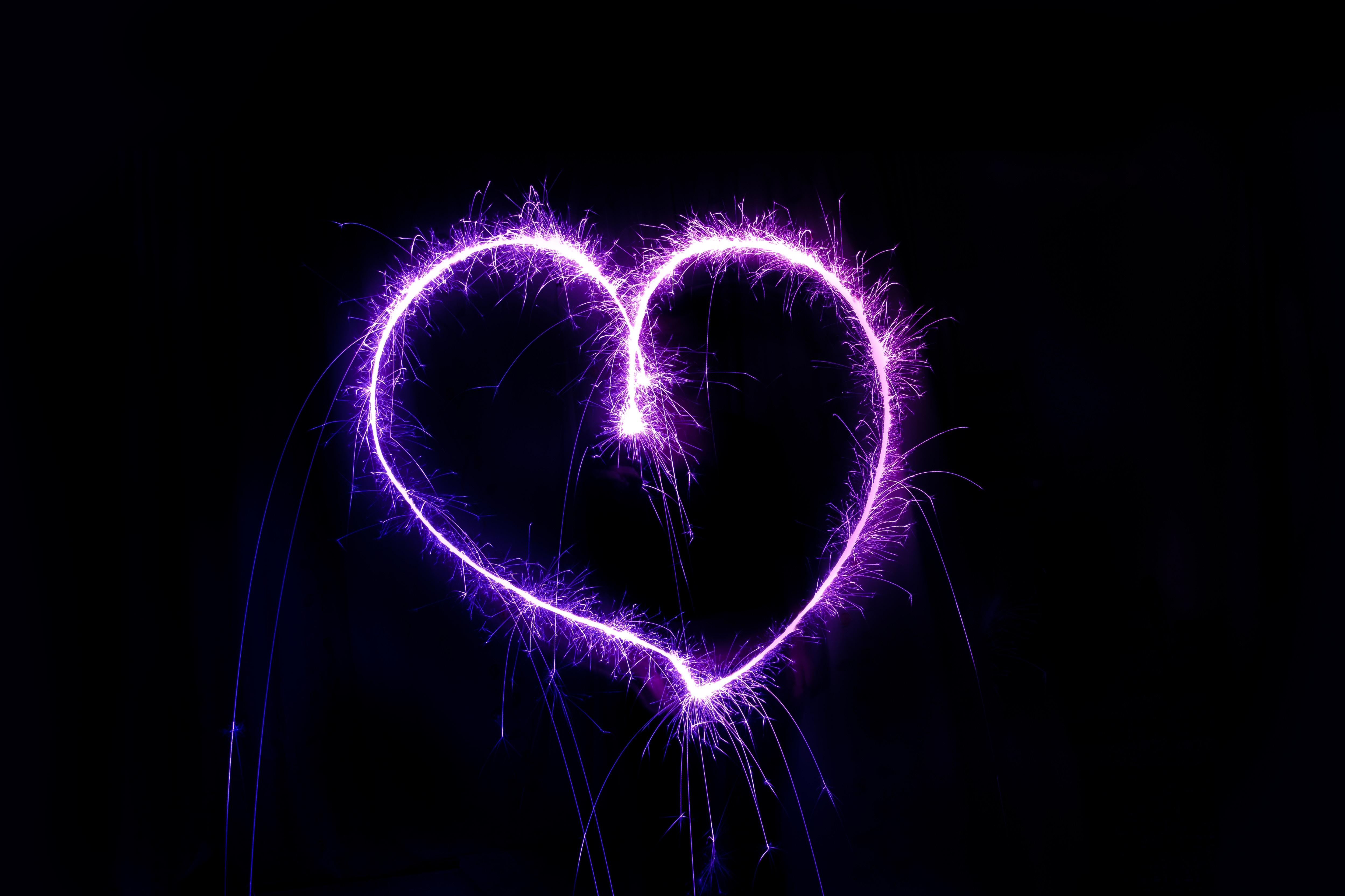 heart sparks shape shine