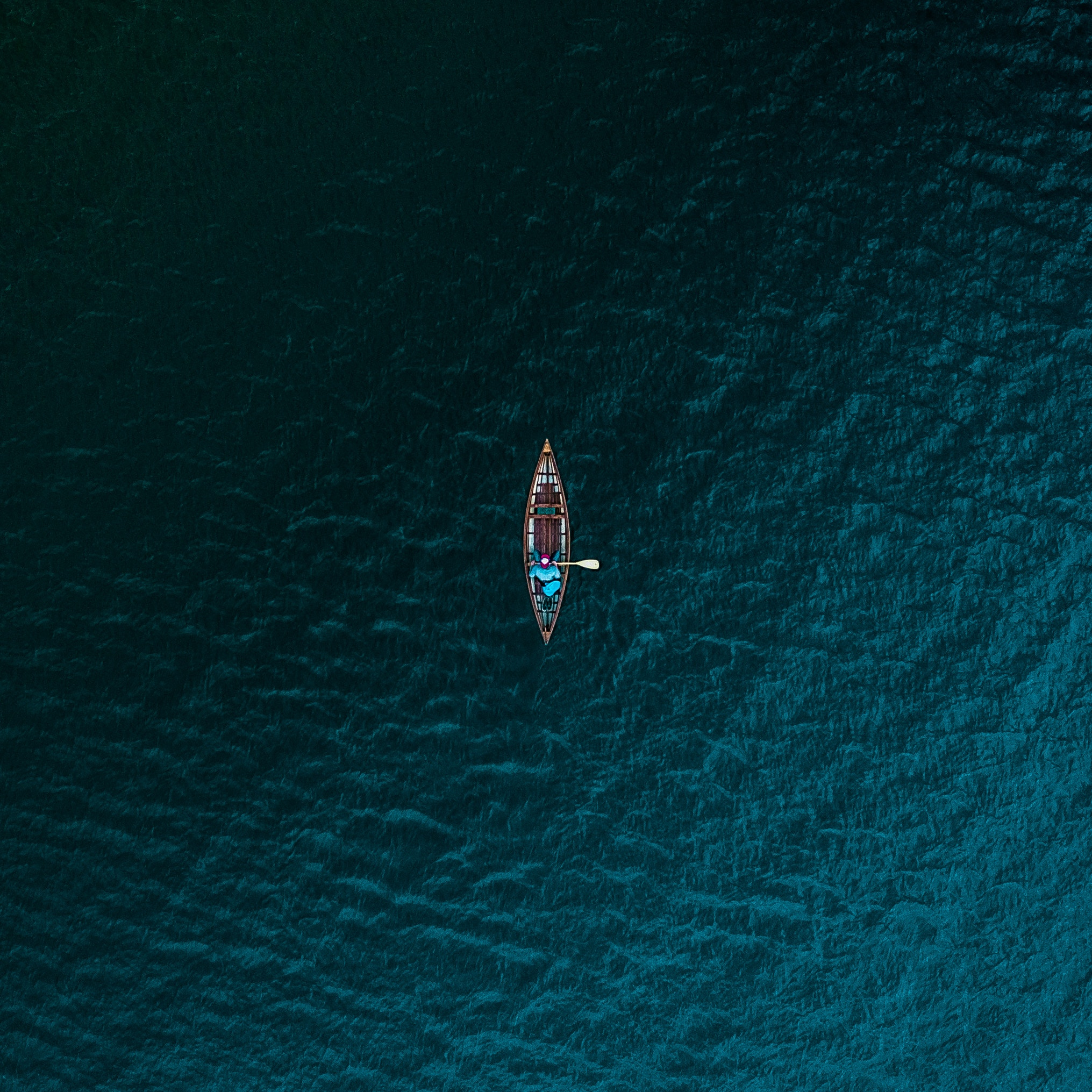 boat sea view from above water