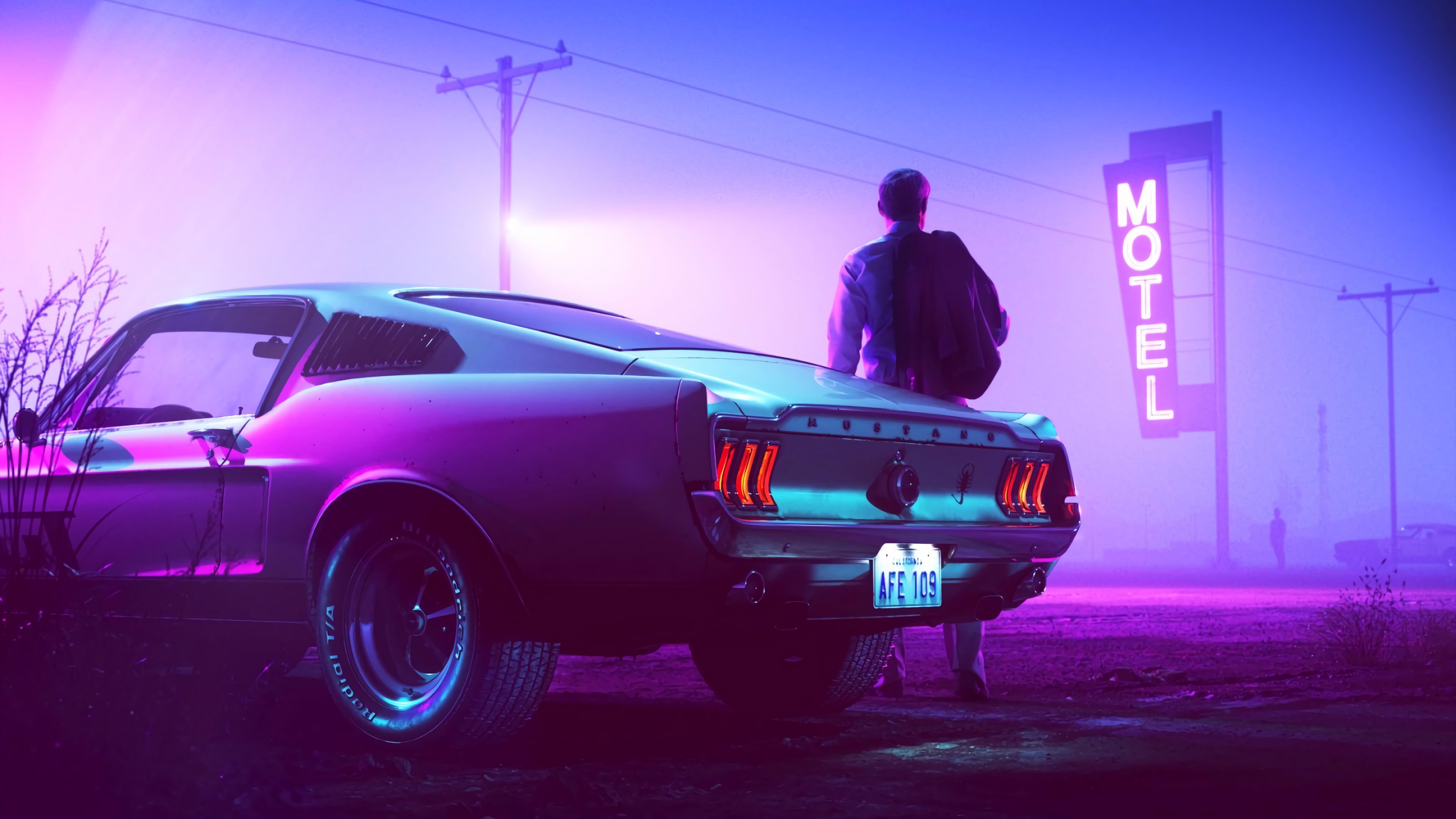 car neon man