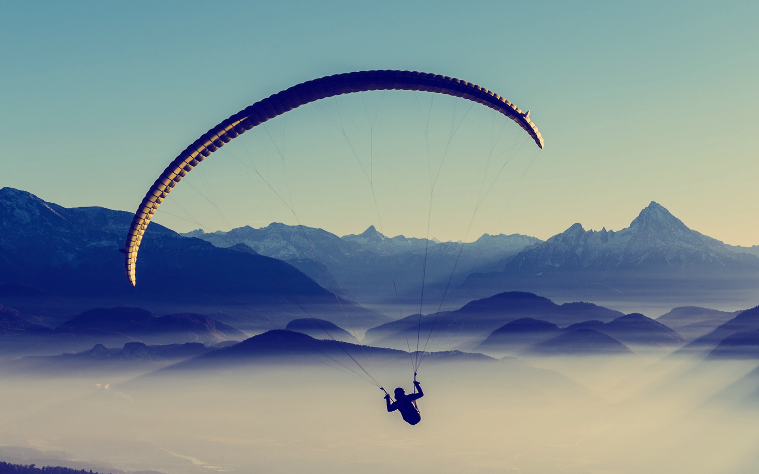 paragliding sky flight