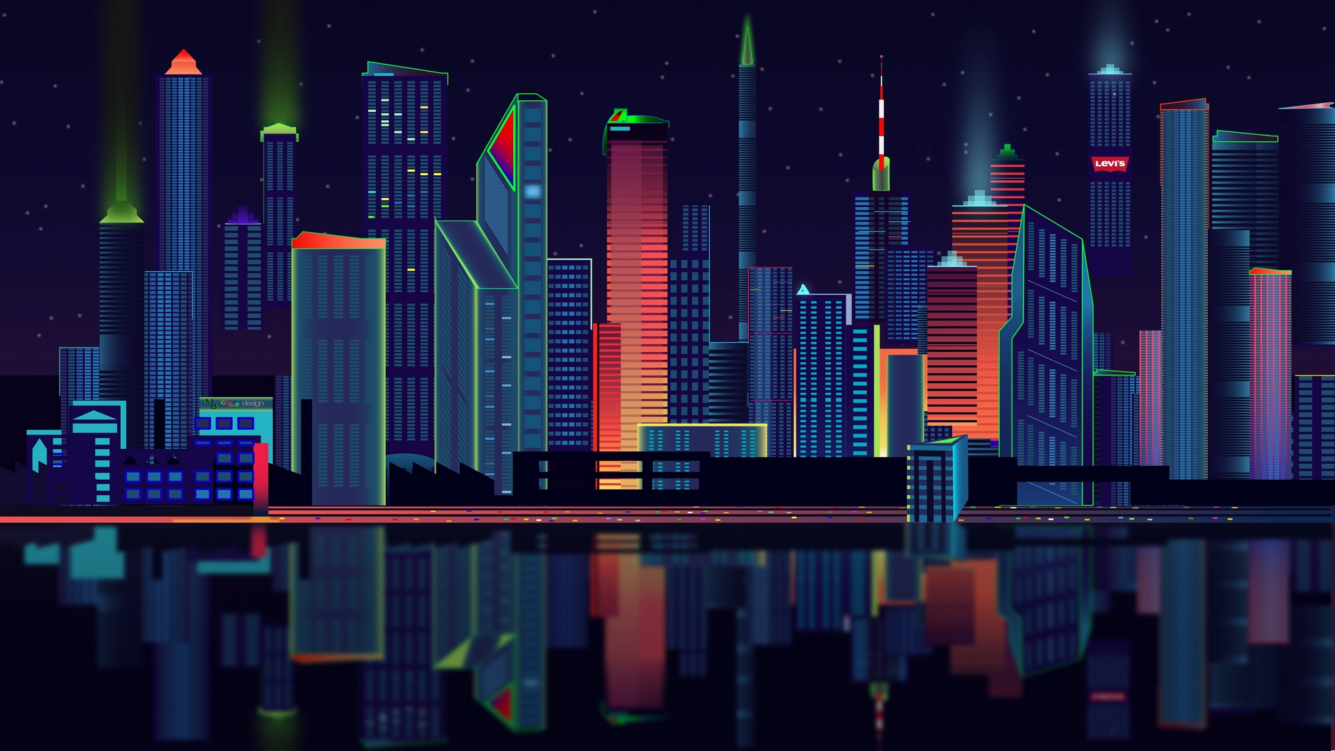 city vector panorama